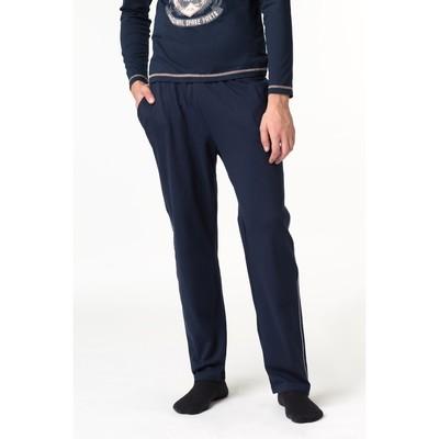 Брюки мужские, цвет синий, размер 48