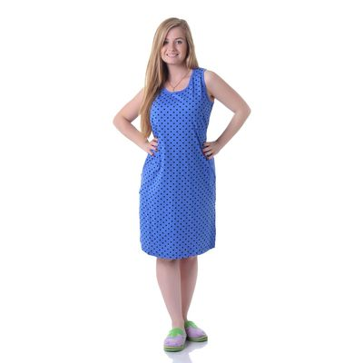 Сарафан женский, цвет синий, размер 52