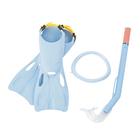 Набор для плавания Flapper, 3 предмета: маска, ласты, трубка, 3-6 лет, цвет МИКС Bestway