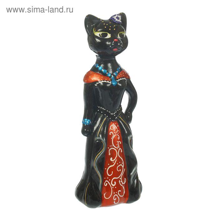 """Копилка """"Кошка Миледи"""" большая, глянец, чёрная, микс"""