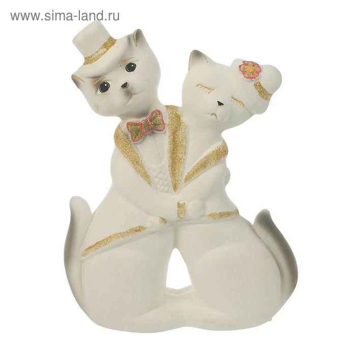 """Копилка """"Коты в танце"""" флок, белая"""