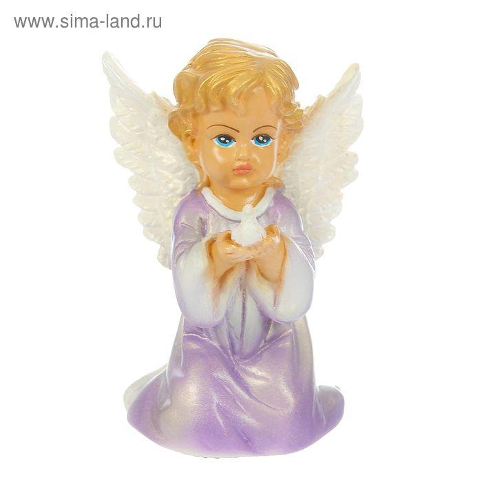"""Статуэтка """"Ангел-девочка с голубем"""" микс"""