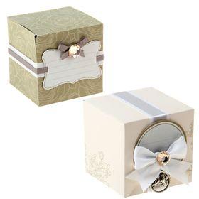 Набор для декорирования бонбоньерки 'Свадебный' (в наборе 2 штуки) Ош