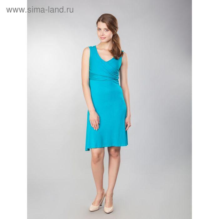 Платье женское, рост 158-164 см, размер 50, цвет бирюзовый (арт. MV19091)