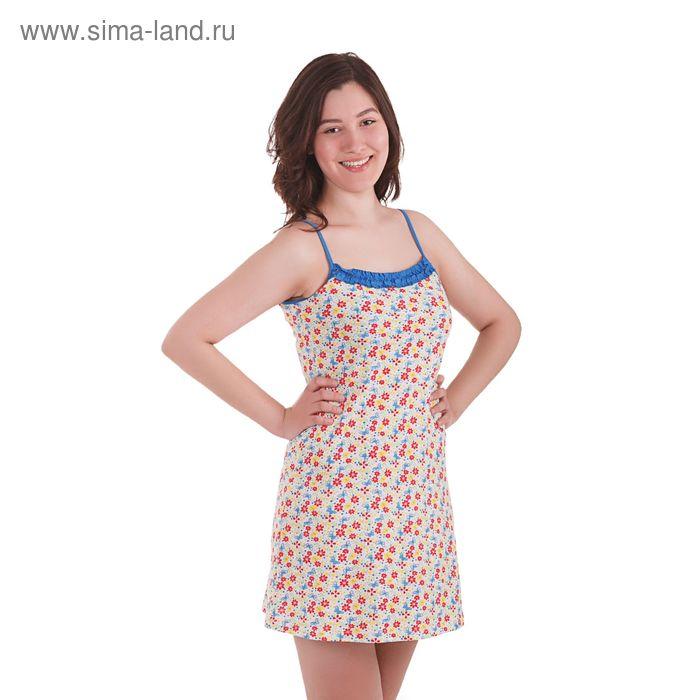 Сорочка женская, рост 158-164 см, размер 52, цвет василёк (арт. PK1301/01)