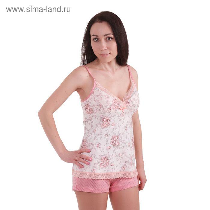 "Пижама женская ""Ностальжи"", рост 158-164 см, размер 50, цвет розовый (арт. MH242402)/01)"