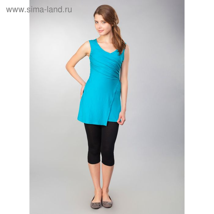 Туника женская, рост 158-164 см, размер 52, цвет бирюзовый (арт. MV19090)