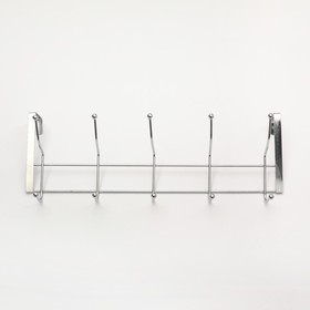 Вешалка надверная, 5 двойных крючков 38х5х16 см