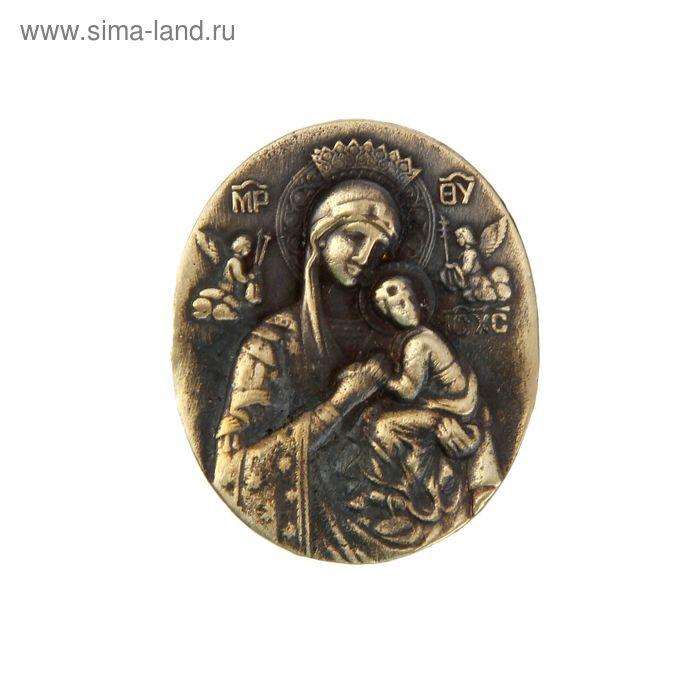"""Икона из бронзы """"Богородица"""""""