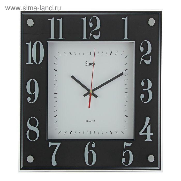 """Часы настенные квадратные """"Черно-белая классика"""", 36х36 см"""