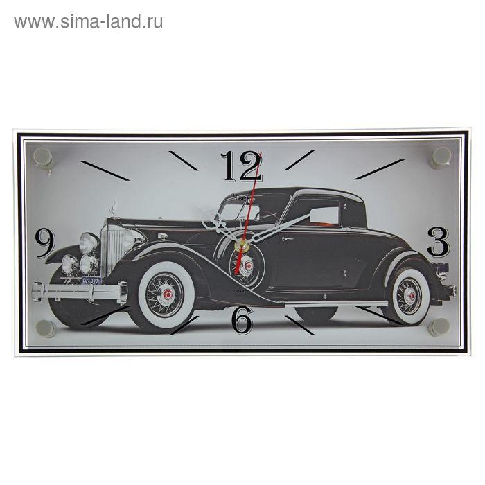 """Часы настенные прямоугольные """"Авто 30-х"""", 19х39 см"""