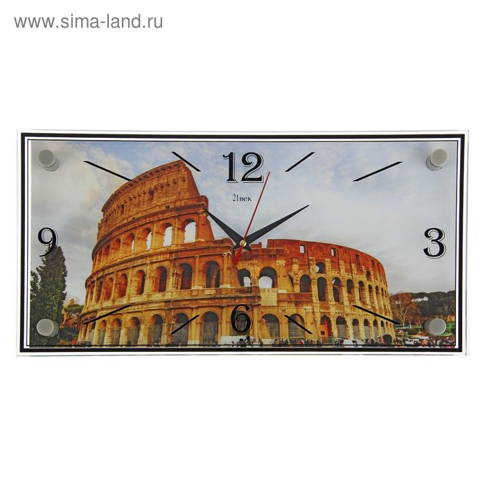 """Часы настенные прямоугольные """"Колизей"""", 19х39 см"""