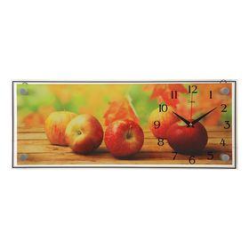 """Часы настенные прямоугольные """"Яблоки"""", 50х20 см микс"""