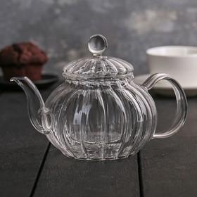 """Чайник заварочный со стеклянным сиотм """"Диана"""" 600 мл"""