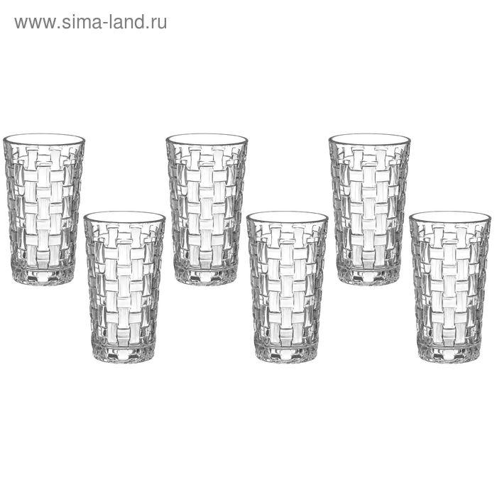 "Набор стаканов 230 мл ""Плетение"", 7х12 см, 6 шт"