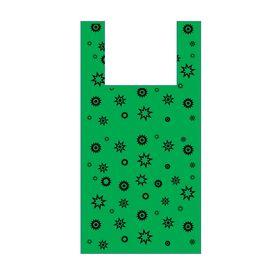 "Пакет ""Звезда зеленая"", полиэтиленовый майка, 32х60 см, 17 мкм"