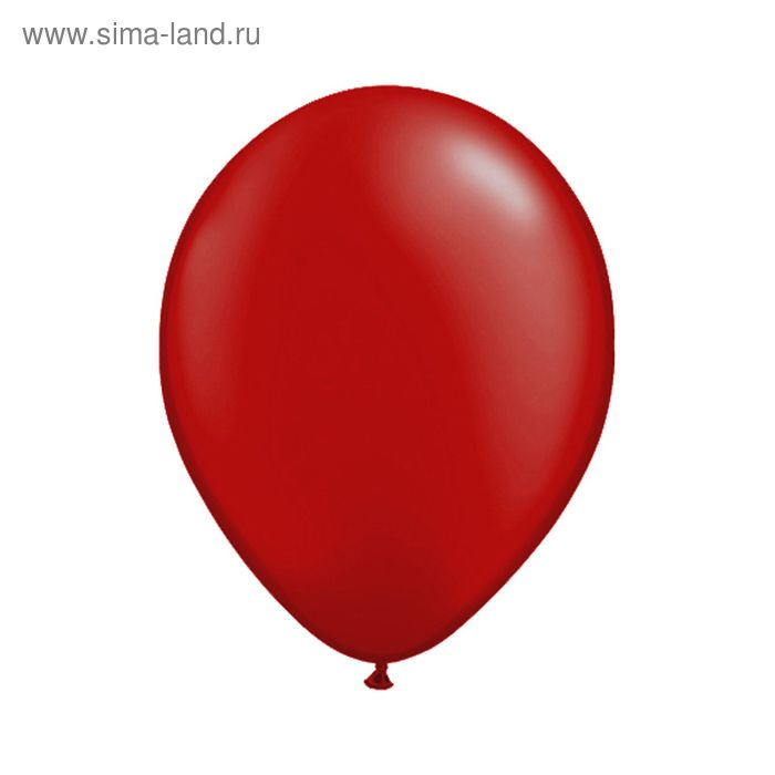 """Шар латексный 12"""", металл, набор 100 шт., цвет красный"""