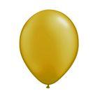 """Шар латексный 9"""", металл, набор 100 шт., цвет золотой"""