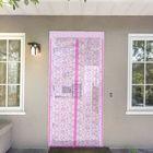 """Сетка антимоскитная на магнитной ленте 80х210 см """"Цветочный узор"""", цвет розовый"""