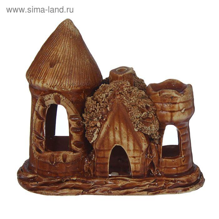 """Декорации для аквариума """"Замок малый с домиком"""""""