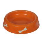 Миска 0,2 л косточка, рисунок, цвет оранжевый