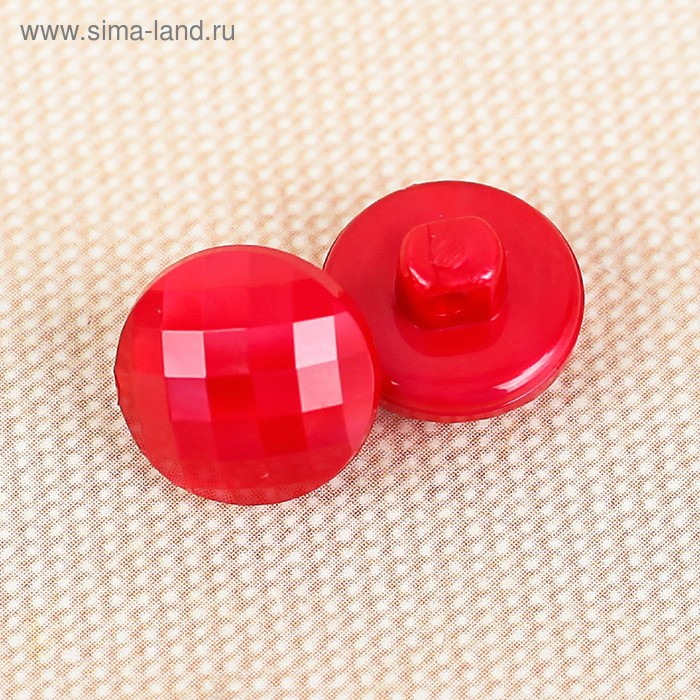 Пуговица, на ножке, 11,5мм, цвет красный