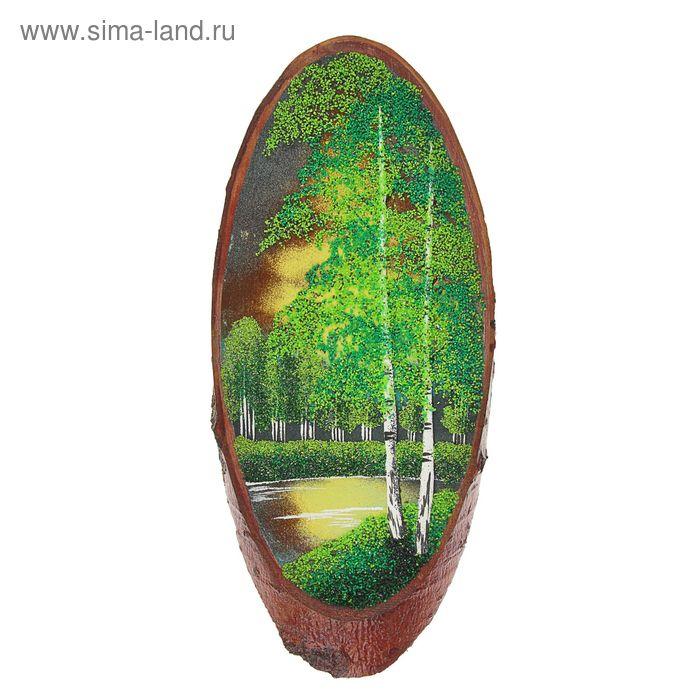 """Картина на срезе дерева """"Лето""""  СД-1,5 301-400х140-180хдо20мм"""