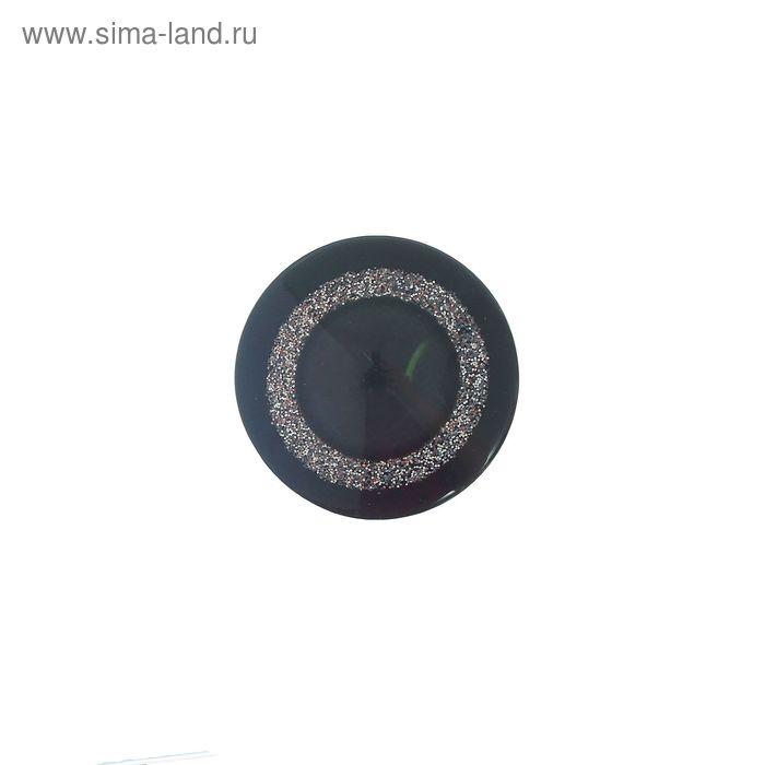 Пуговица, 2 прокола, 28мм, цвет чёрный