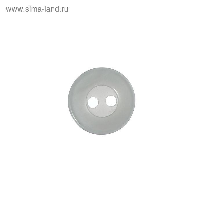 Пуговица, 2 прокола, 11мм, цвет серебристый