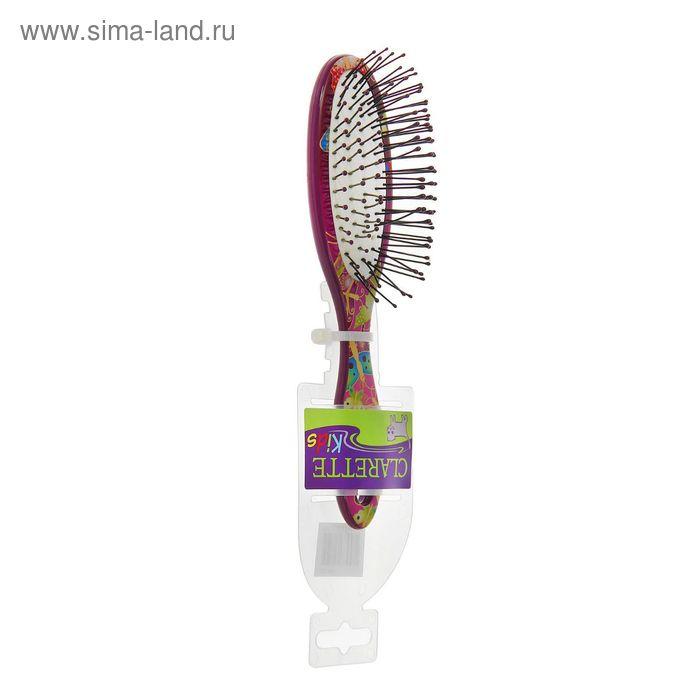 Расчёска массажная компактная, с ультратонкой пластиковой щетиной, цветная