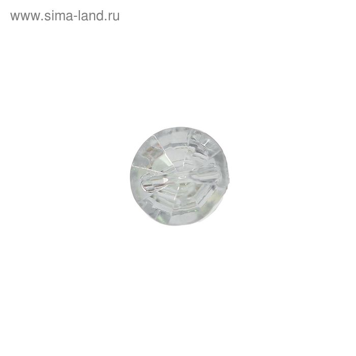 Пуговица-страза на 2 прокола, круглая, 10мм, серебристая