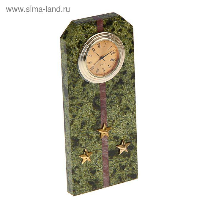 """Часы """"Погон-ст. лейтенант"""" 60 х 45 х 150 мм"""