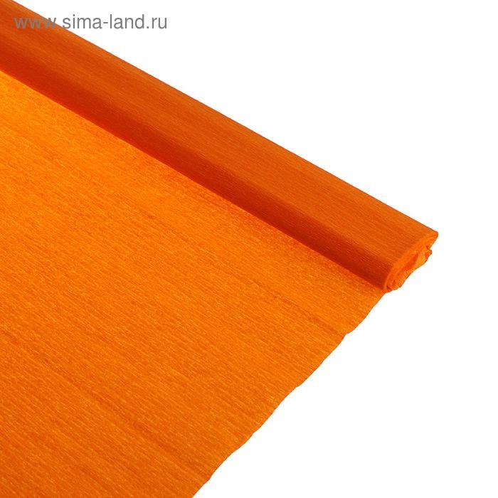 Бумага крепированная 50*250см, 32 г/м2, оранжевая, в рулоне