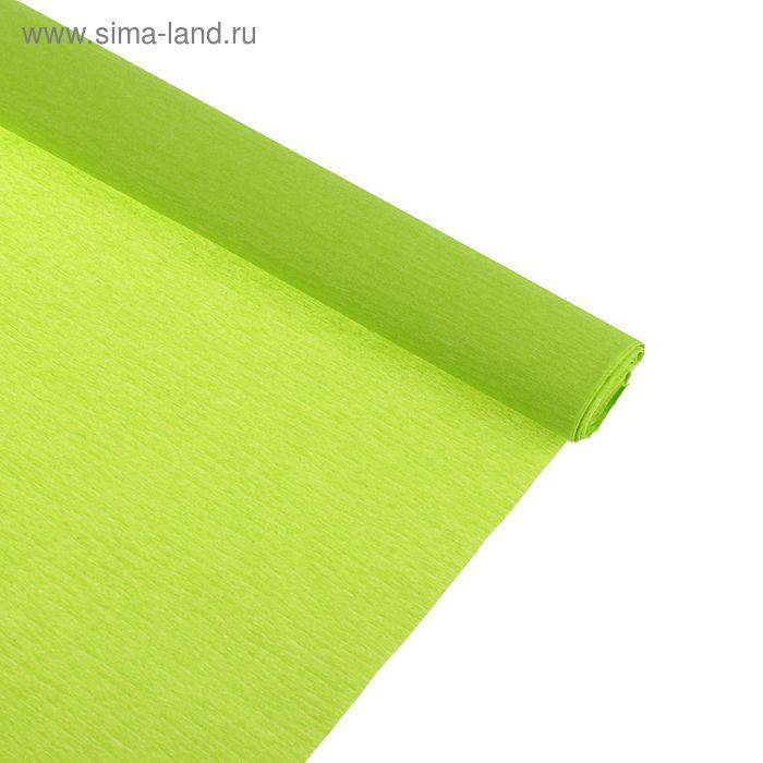 Бумага крепированная 50*250см, 32 г/м2, зеленое яблоко, в рулоне