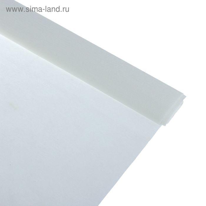 Бумага крепированная 50*250см, 32 г/м2, белая, в рулоне