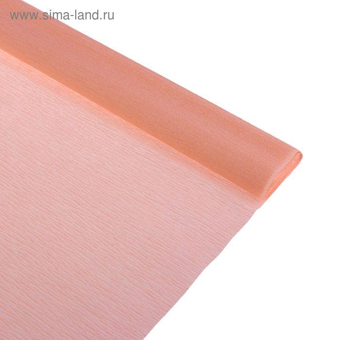 Бумага крепированная 50*250см, 32 г/м2, персиковая, в рулоне