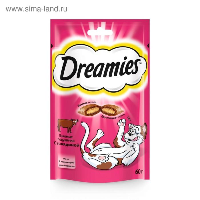Лакомство Dreamies для кошек, с говядиной, 60 г