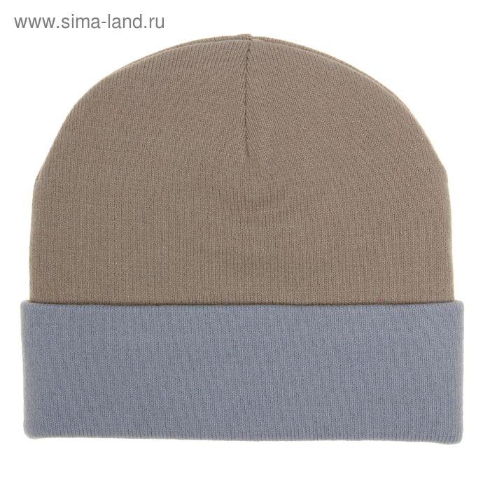 Шапка женская RLH5723, размер 56-58, цвет бежевый/св.серый