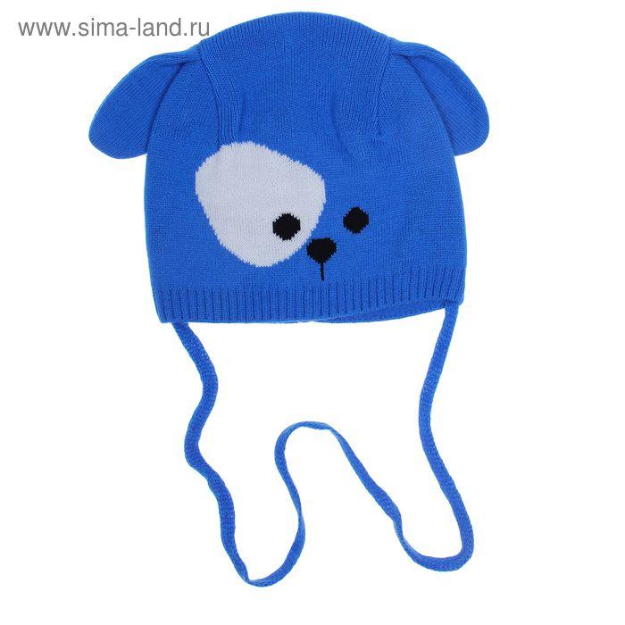 Шапка для мальчика RBH6605, размер 50-52 (от 3-х лет), цвет голубой