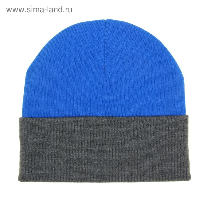 Шапка мужская RYH5724, размер 57-59, цвет голубой/т.серый