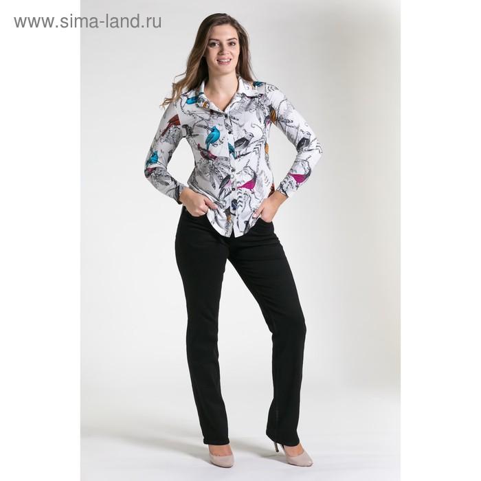 Блуза женская 4119 С+, размер 50,рост 164см, цветмолочный/серый