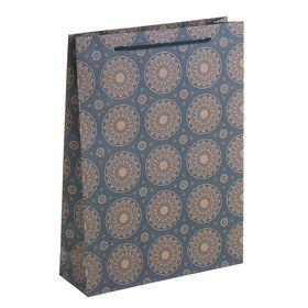 """Пакет крафт """"Ажурные круги"""", 23 х 8,5 х 32 см"""