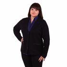 Жакет женский 51200291, цвет чёрный, размер 56 (4XL), рост 170