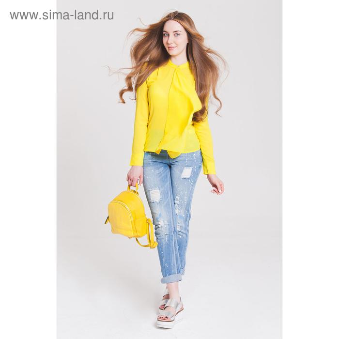 Блузка женская 40200260049, размер 48 (L), рост 170 см, цвет жёлтый