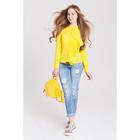 Блузка женская 40200260049, размер 40 (XXS), рост 170 см, цвет жёлтый