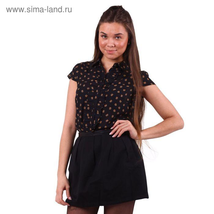 Блузка женская 10200270004, размер 42 (XS), рост 170 см, цвет черный