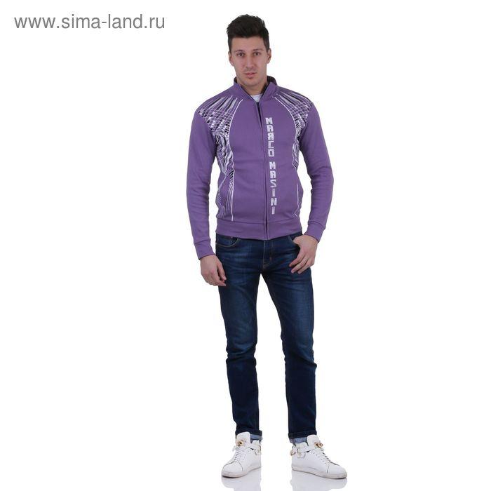 Куртка спортивная мужская, цвет сирень, размер L, интерлок (арт. 515)