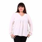 Блузка женская 51900370, цвет белый, размер 50(XL), рост 170