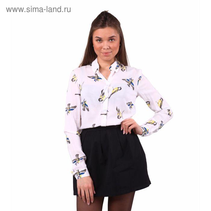 Блузка женская 40200260047, размер 42 (XS), рост 170 см, цвет белый