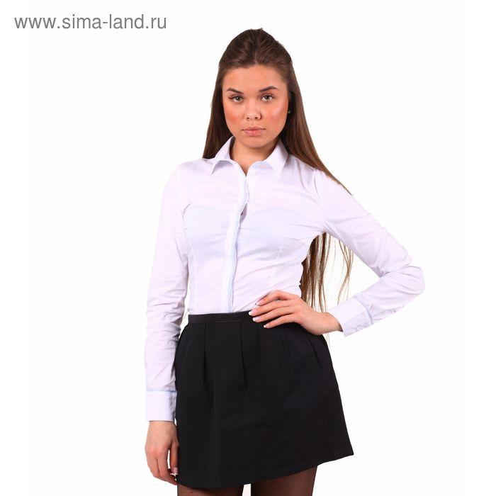 Блузка женская, размер 50 (XL), рост 170 см, цвет белый (арт. 10200260023 С+)